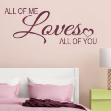 All of Me Loves all of You ~ Wall sticker / decals